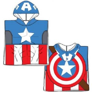 Captain America Mini Poncho Towel